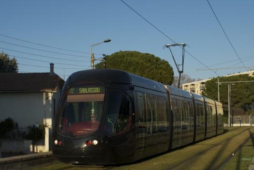 Rame de la future ligne 4, Montpellier (14 janvier 2012)