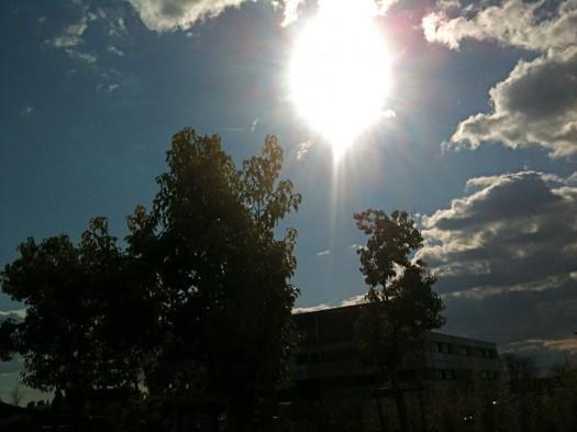 Le retour du soleil dans un ciel parsemé de nuages, Castelnau-le-Lez (14 février 2012)