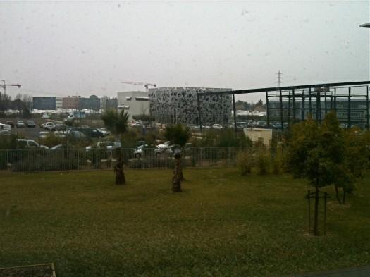 Il neige, Castelnau-le-Lez (2 février 2012)