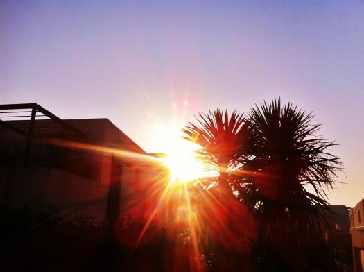 Lever de soleil sur Montpellier (9 février 2012)