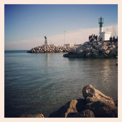 Le pêcheur, Palavas-les-Flots (25 février 2012)
