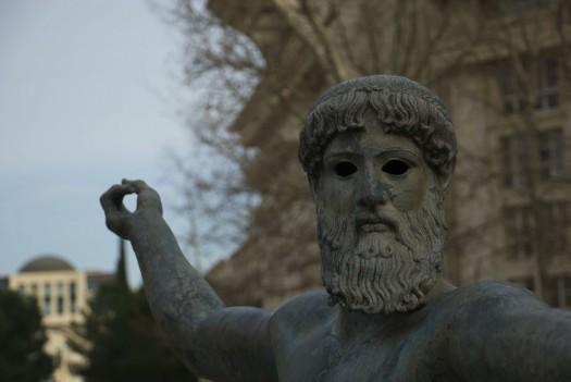 Poseïdon. Place du Nombre d'Or, Montpellier (7 mars 2012)