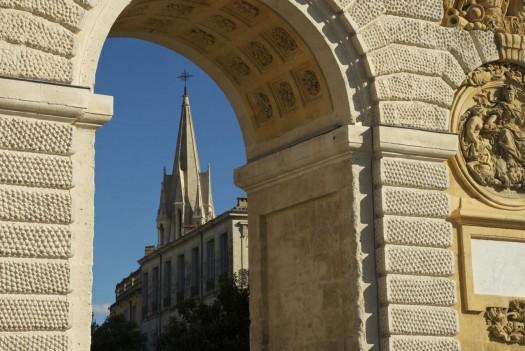 Ste Anne depuis l'Arc de Triomphe, Montpellier (5 mars 2012)