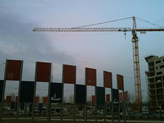 """Le fameux """"Rond Point des Drapeaux"""", Montpellier (3 mars 2012)"""