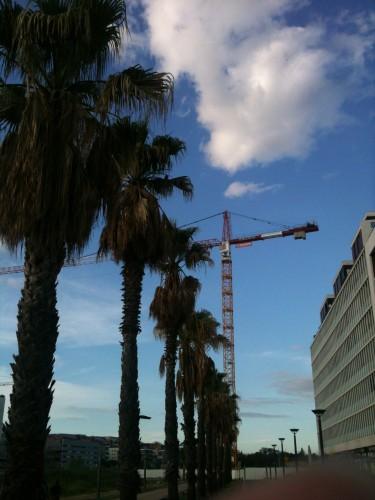 Grue à Port Marianne, Montpellier (2 juin 2012)
