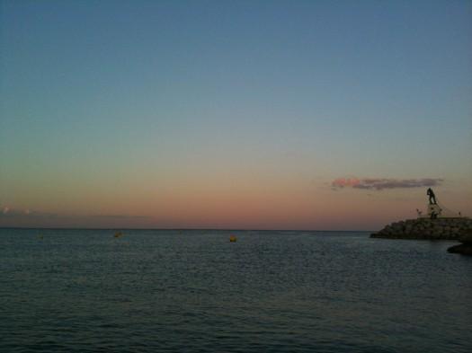 Coucher de soleil, Palavas-Les-Flots (6 août 2012)