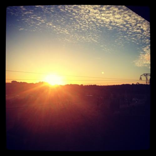 Le lever du soleil, Castelnau-le-Lez (9 octobre 2012)