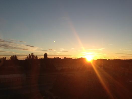 Le lever de soleil, Castelnau-le-Lez (10 octobre 2012)