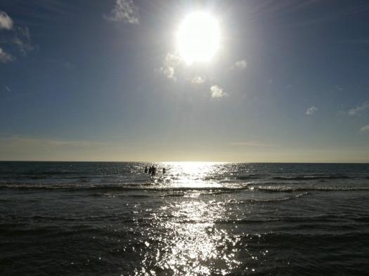 Baignade en décembre, Carnon (29 décembre 2012)
