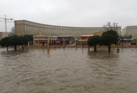 Débordement du Lez, Montpellier (28 mars 2013)