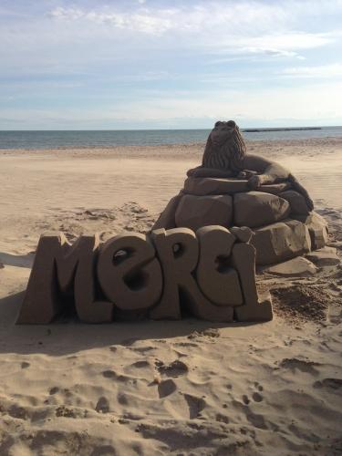 Sculpture de sable, Palavas-les-Flots (25 mars 2013)