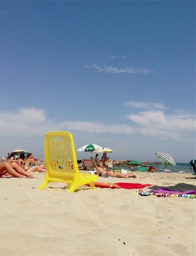 Chaise de plage, Carnon (20 juillet 2013)