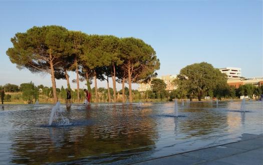 Le miroir d'eau, Montpellier (24 juillet 2013)