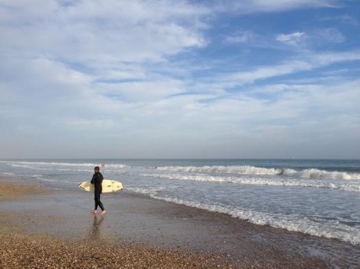 Un surfeur, Villeneuve-les-Maguelone (27 octobre 2013)
