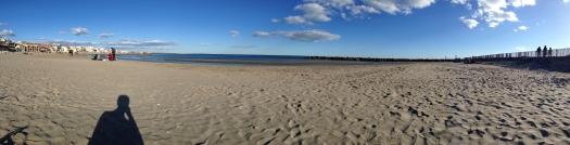 Panoramique à Carnon Plage (22 février 2014)