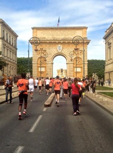 Arrivée de la Montpellier-Reine, Montpellier (25 mai 2014)