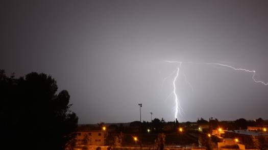 Orage, Le Crès (31 août 2015)