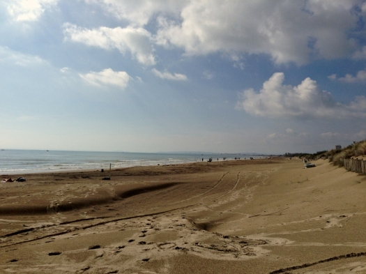 Plage du Grand Travers, La Grande Motte (11 octobre 2014)