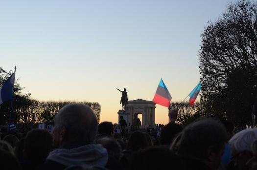 #JeSuisCharlie, Rassemblement Esplanade du Peyrou, Montpellier (11 janvier 2015)