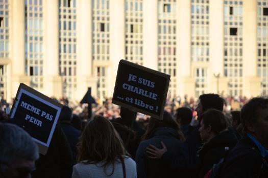 #JeSuisCharlie, Rassemblement Place de l'Europe, Montpellier (11 janvier 2015)
