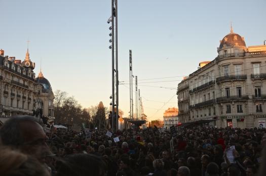 #JeSuisCharlie, Rassemblement Place de la Comédie, Montpellier (11 janvier 2015)